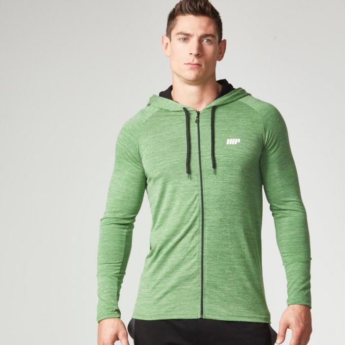 Myprotein Men's Performance Zip Hoodie - Green Marl - XL