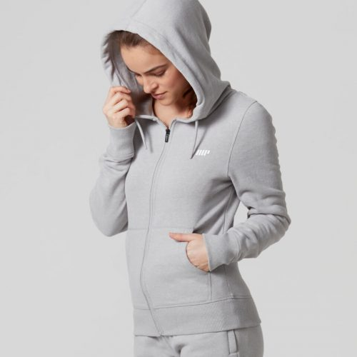 Myprotein Women's Tru-Fit Full Zip Hoodie - Grey Marl - L