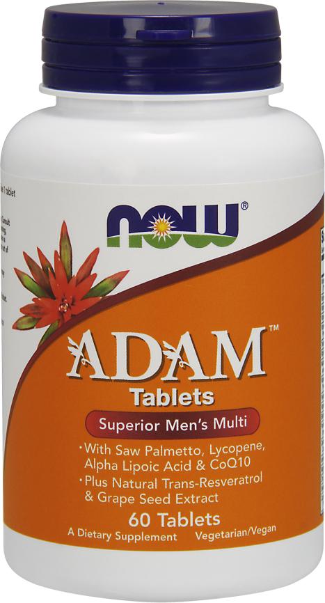 NOW Foods ADAM Men's Multi Tablets - 60 Tablets