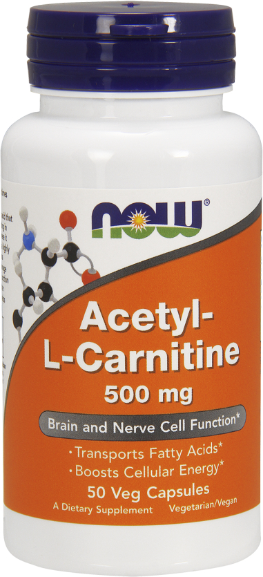 NOW Foods Acetyl-L Carnitine - 50 VCapsules