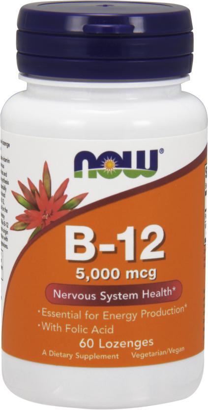 NOW Foods B-12 with Folic Acid - 60 Lozenges