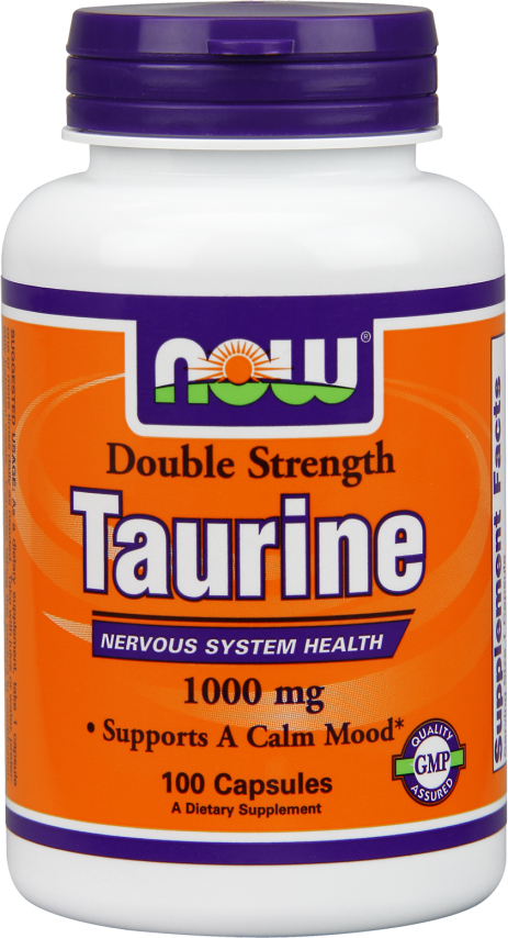 NOW Foods Double Strength Taurine - 100 Capsules