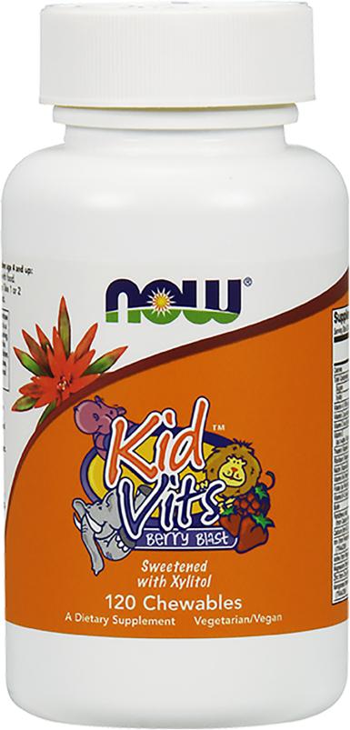 NOW Foods Kid Vits - 120 Chewables Berry Blast Berry Blast
