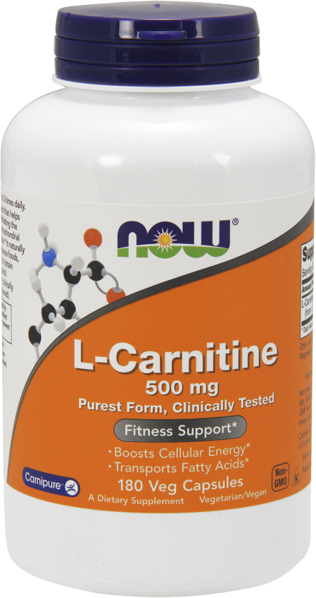NOW Foods L-Carnitine - 180 VCapsules