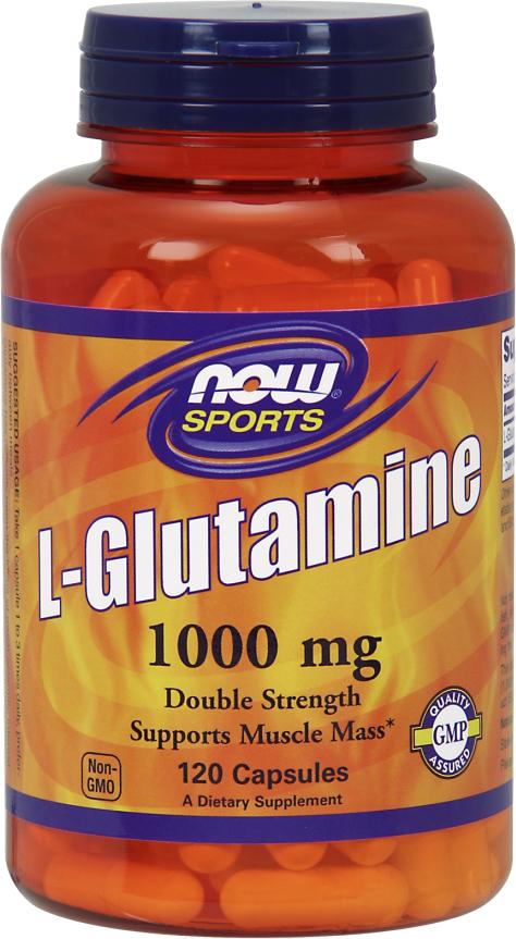 NOW Foods L-Glutamine Capsules - 120 Capsules
