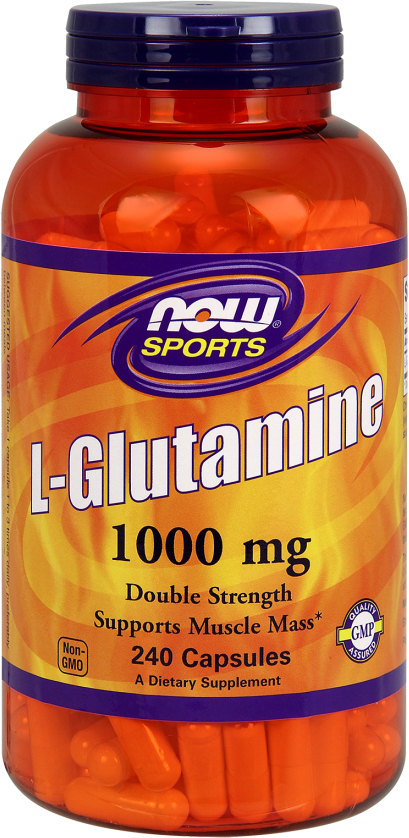 NOW Foods L-Glutamine Capsules - 240 Capsules