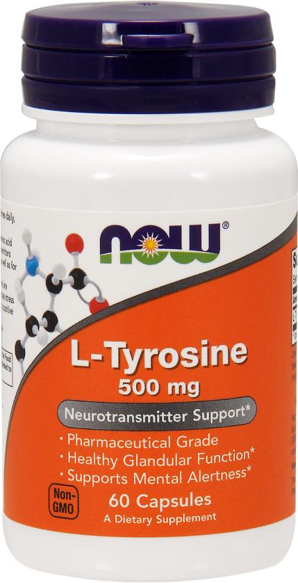 NOW Foods L-Tyrosine - 60 Capsules