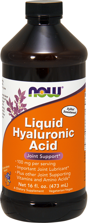 NOW Foods Liquid Hyaluronic Acid - 16 Fl. Oz. Delicious Berry