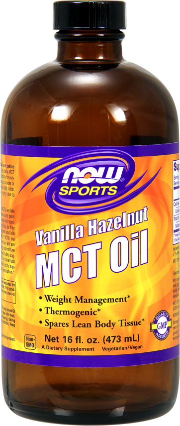 NOW Foods MCT Oil - 16 fl. oz. Vanilla Hazelnut