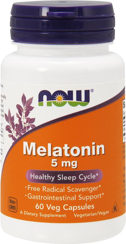NOW Foods Melatonin 5mg - 60 VCapsules