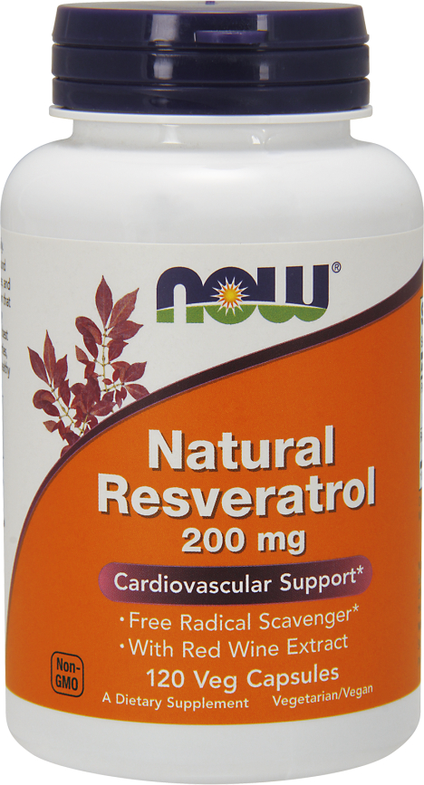 NOW Foods Natural Resveratrol - 120 VCapsules