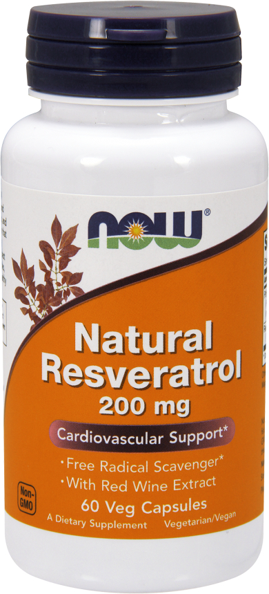 NOW Foods Natural Resveratrol - 60 VCapsules