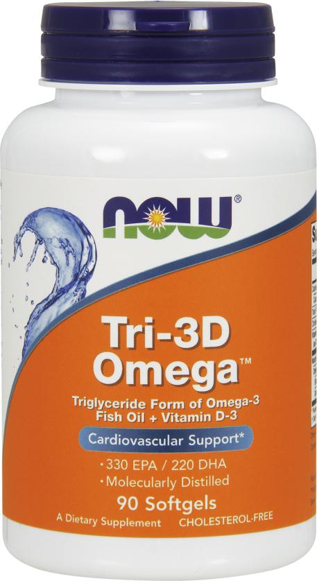 NOW Foods Tri-3D Omega - 90 Softgels