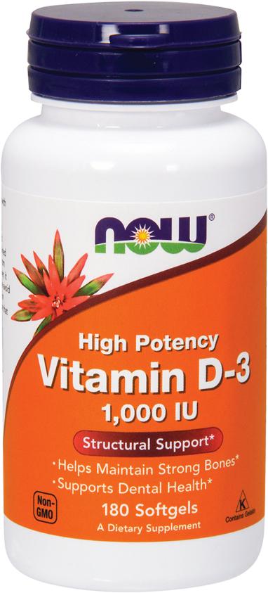 NOW Foods Vitamin D-3 - 180 Softgels