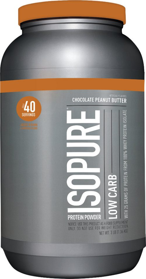 Nature's Best Isopure Zero Carb Protein - 3lbs Low Carb Chocolate Pean