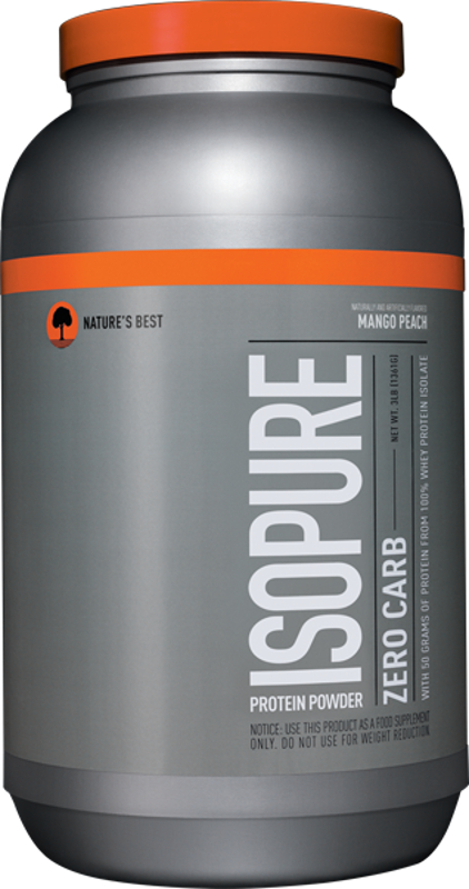 Nature's Best Isopure Zero Carb Protein - 3lbs Mango Peach