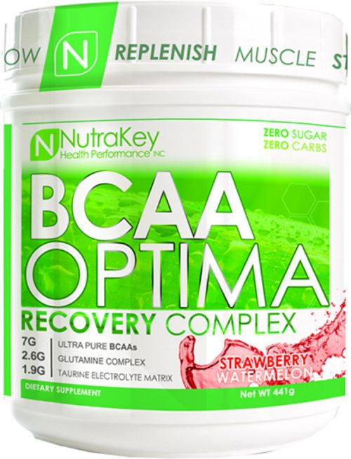 NutraKey BCAA Optima - 30 Servings Strawberry Watermelon