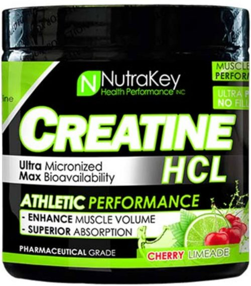 NutraKey Creatine HCl - 125 Servings Cherry Limeade