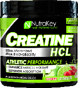 NutraKey Creatine HCl - 125 Servings Unflavored