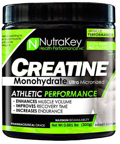 NutraKey Creatine Monohydrate - 300g Unflavored