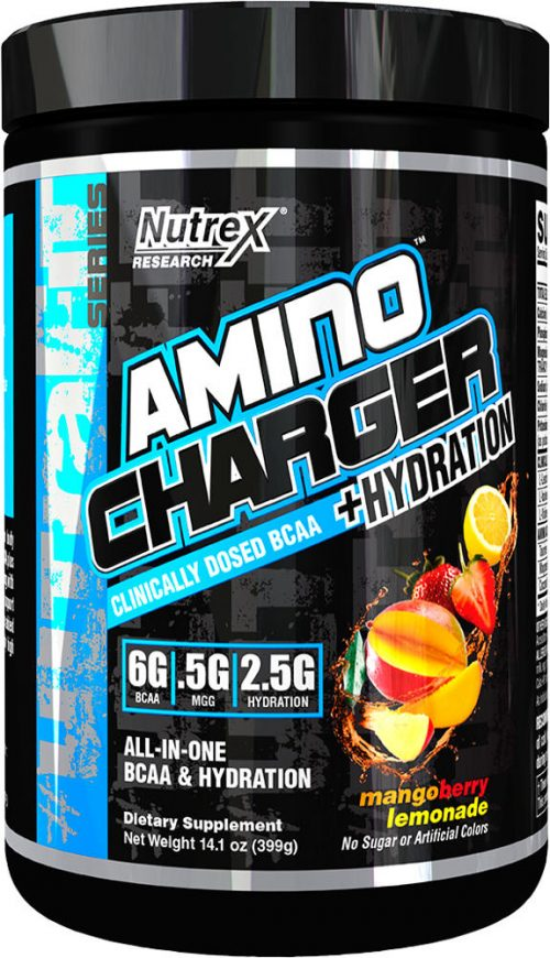Nutrex Amino Charger Plus Hydration - 30 Servings Mango Berry Lemonade