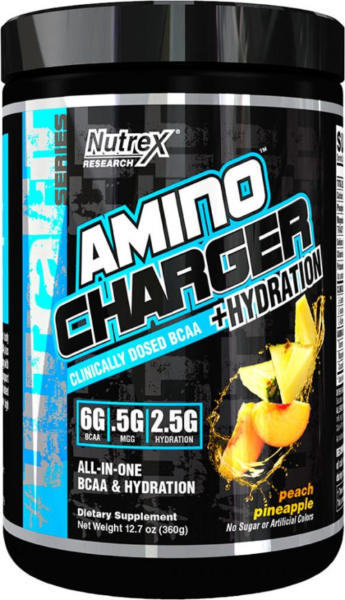 Nutrex Amino Charger Plus Hydration - 30 Servings Peach Pineapple