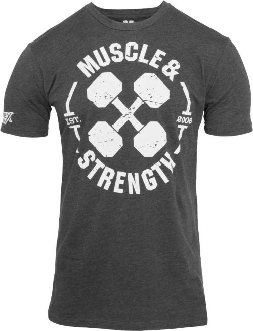 """Nutrex """"Dumbbell X"""" T-Shirt - Charcoal Large"""