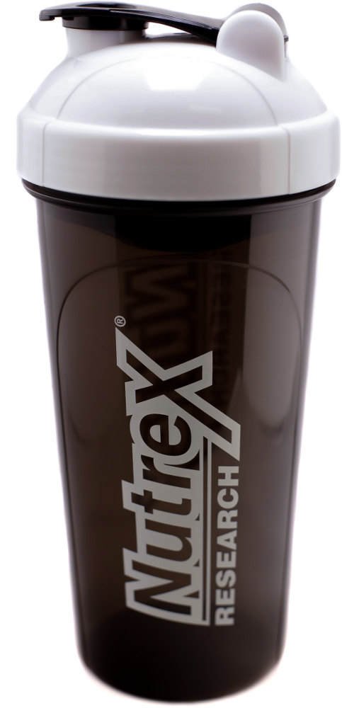 Nutrex Leak-Proof Shaker - 25 oz Bottle White/Black