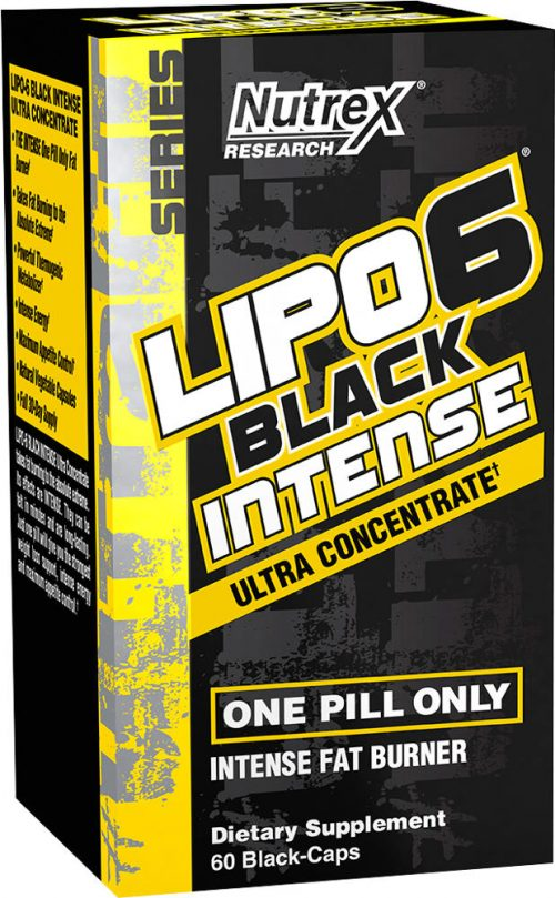 Nutrex Lipo-6 Black Intense Ultra Concentrate - 60 Black-Caps