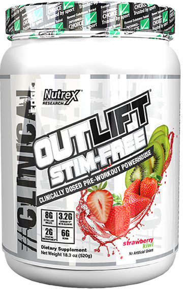 Nutrex Outlift - 20 Servings Stim-Free Strawberry Kiwi