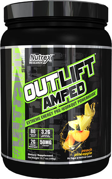 Nutrex Outlift Amped - 20 Servings Peach Pineapple