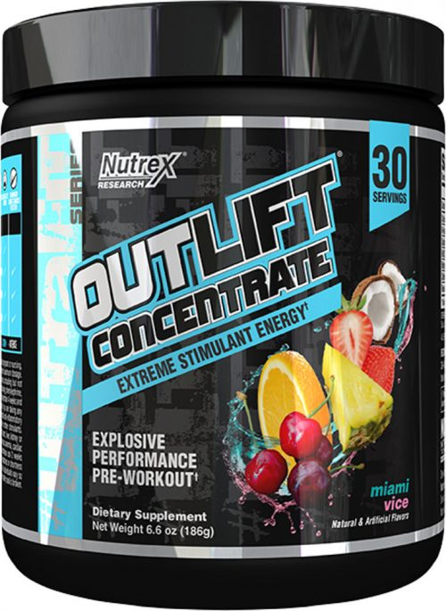 Nutrex Outlift Concentrate - 30 Servings Miami Vice