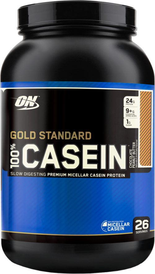 Optimum Nutrition Gold Standard 100% Casein - 2lbs Chocolate Peanut Bu