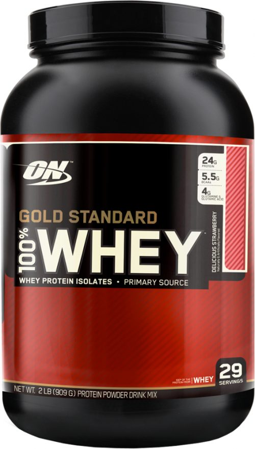 Optimum Nutrition Gold Standard 100% Whey - 2lbs Delicious Strawberry