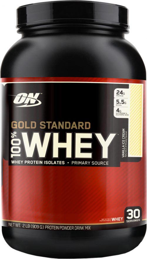 Optimum Nutrition Gold Standard 100% Whey - 2lbs Vanilla Ice Cream