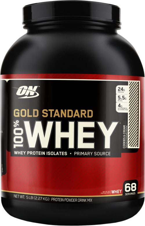 Optimum Nutrition Gold Standard 100% Whey - 5lbs Cookies & Cream