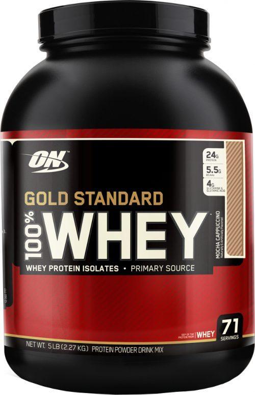 Optimum Nutrition Gold Standard 100% Whey - 5lbs Mocha Cappuccino