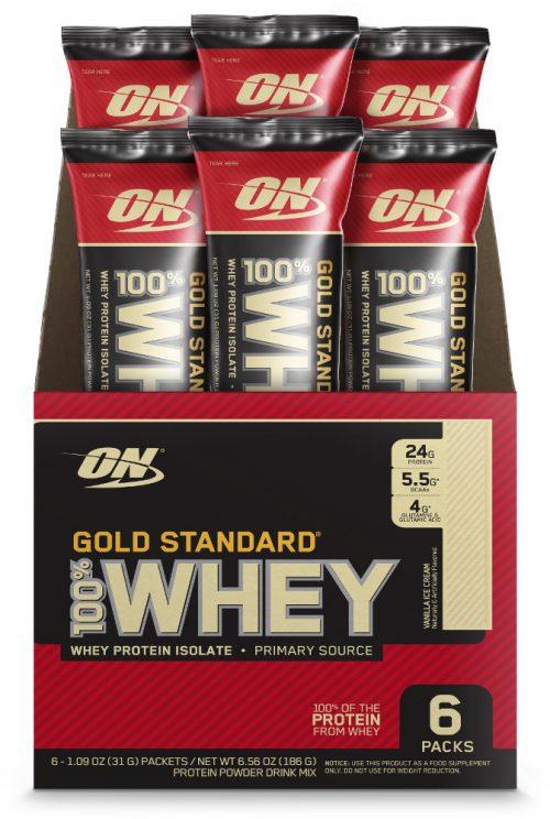 Optimum Nutrition Gold Standard 100% Whey - 6 Stick Packs Vanilla Ice