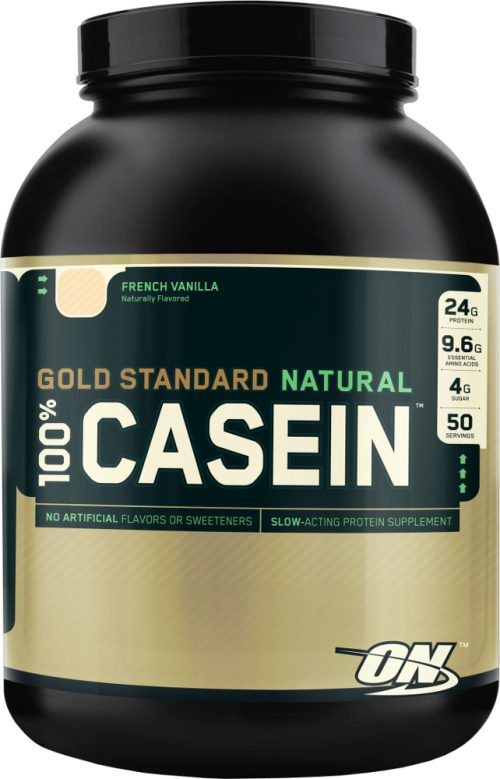 Optimum Nutrition Gold Standard Natural 100% Casein - 4lbs French Vani