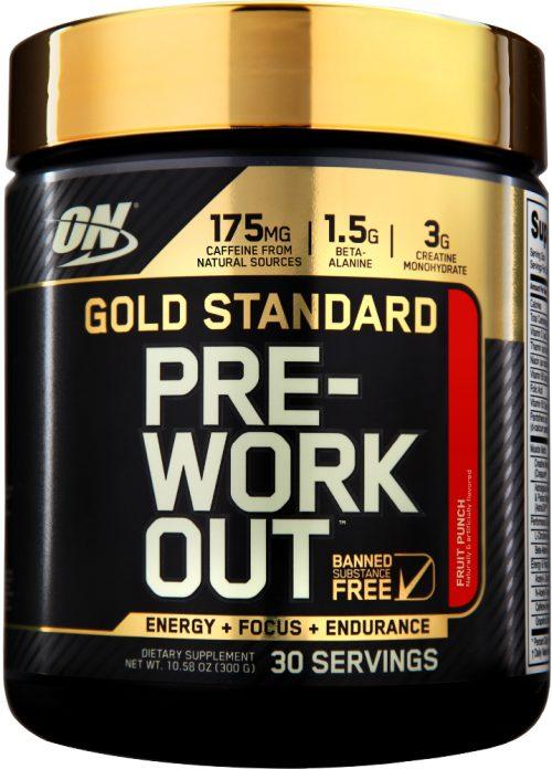 Optimum Nutrition Gold Standard Pre-Workout - 30 Servings Fruit Punch