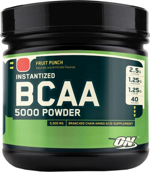 Optimum Nutrition Instantized BCAA 5000 Powder - 40 Servings Fruit Pun