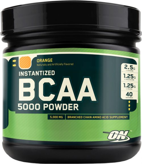 Optimum Nutrition Instantized BCAA 5000 Powder - 40 Servings Orange