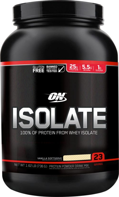 Optimum Nutrition Isolate - 1.65lbs Vanilla Softserve