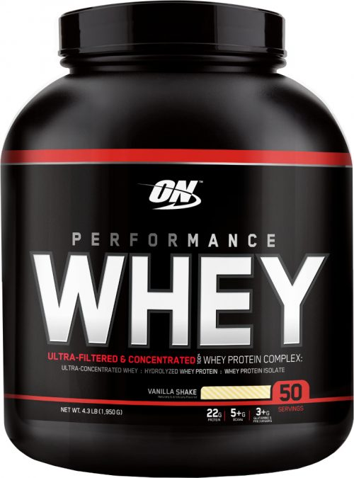 Optimum Nutrition Performance Whey - 50 Servings Vanilla Shake