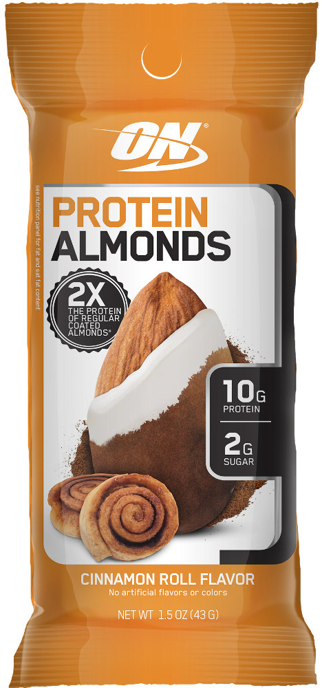 Optimum Nutrition Protein Almonds - 1 Packet Cinnamon Roll