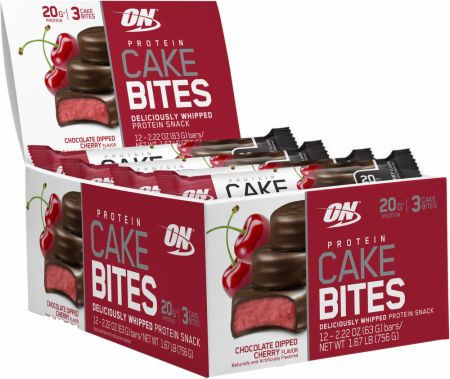 Optimum Nutrition Protein Cake Bites - Box of 12 Chocolate Dipped Cher