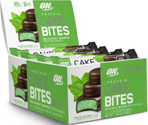 Optimum Nutrition Protein Cake Bites - Box of 12 Chocolate Mint