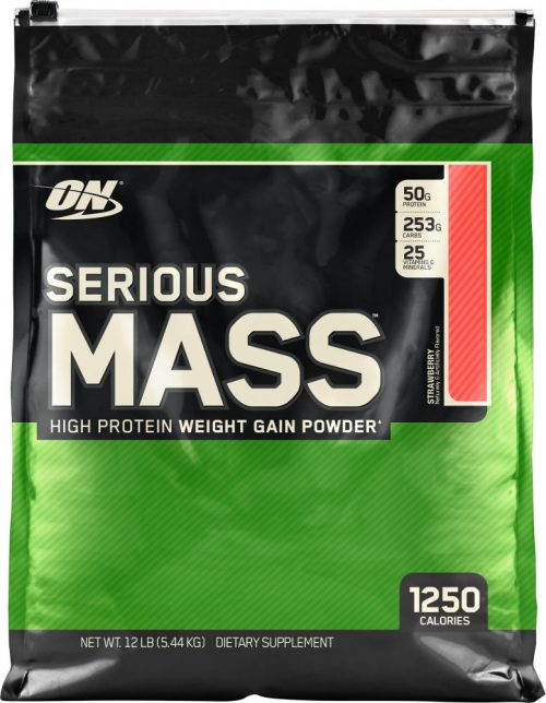 Optimum Nutrition Serious Mass - 12lbs Strawberry