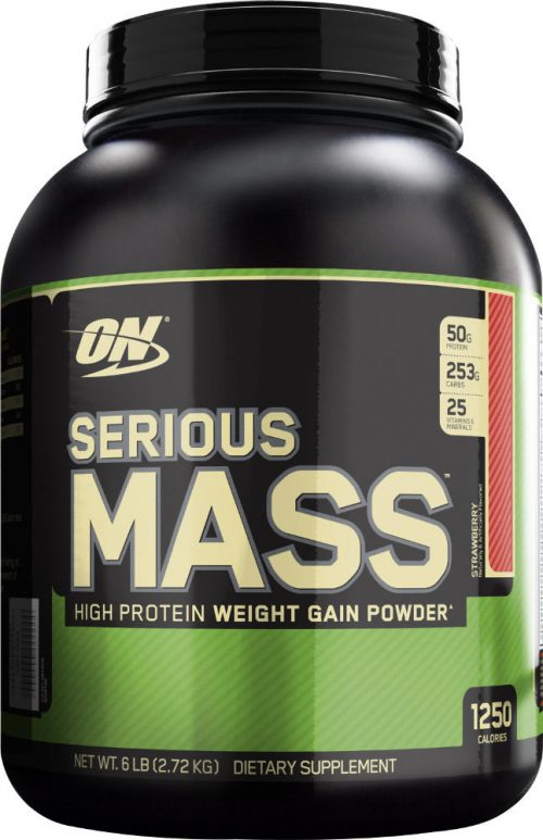 Optimum Nutrition Serious Mass - 6lbs Strawberry
