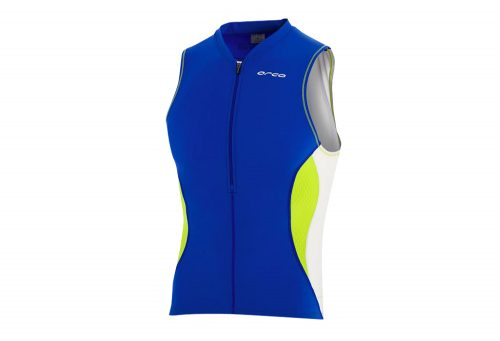 Orca Core Tri Tank - Men's - royal blue/lime punch, medium